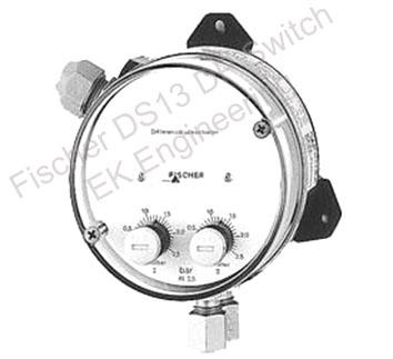 Fischer DS13 - DP Gauge with adjustable setpoint contacts