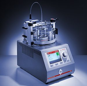 Softening point tester - for polymers, adhesives, resins