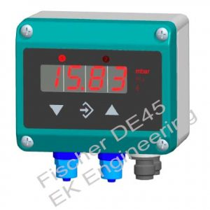Fischer DE45 - digital DP Transmitter with limit switch - Air, gas