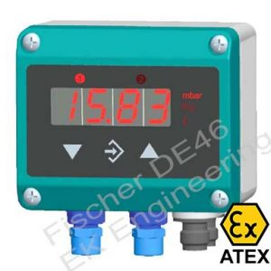 Fischer DE46 Ex - ATEX approved low pressure DP Transmitter Switch