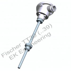 Fischer TT30 - Thermocouple with protective sleeve for air, liquids - vibration resistant
