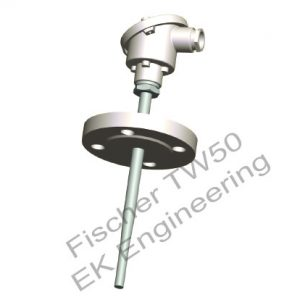 Fischer TW50 - industrial flange type resistance thermometer