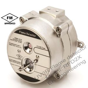 UV IR Flame detector - RFD2X - wide view angle, ATEX, FM, Alarm & fault alert, linear analog output