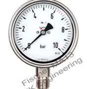 Fischer MA13 - bourdon tube pressure gauge for chemicals, aggressive liquids, gases