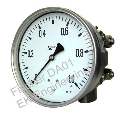 Fischer DA01 - corrossion resistant DP gauge for liquids, gases