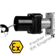 Fischer NK10 ATEX - liquid level float switch for explosion proof (zone 1, 2, 22) hazardous area, high media temperature