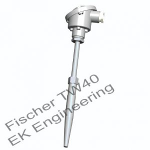 Fischer TW40 - industrial weld-in thermometer with protective sleeves