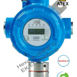 Hexane gas sensor transmitter - explosion proof for Zone 1, 2 with ATEX, SIL 2, display, alarm
