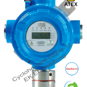 Cyclohexane gas detector - LEL sensor transmitter, online, fixed with ATEX, SIL 2 for Zone 1, 2 metallic enclosure, display, relays, RS485