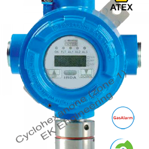 Cyclohexanone LEL detector - online, fixed transmitter, ATEX, SIL 2, metallic enclosure, LCD display